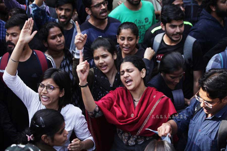 Higher Education under Attack in India : Women Lead the Struggle